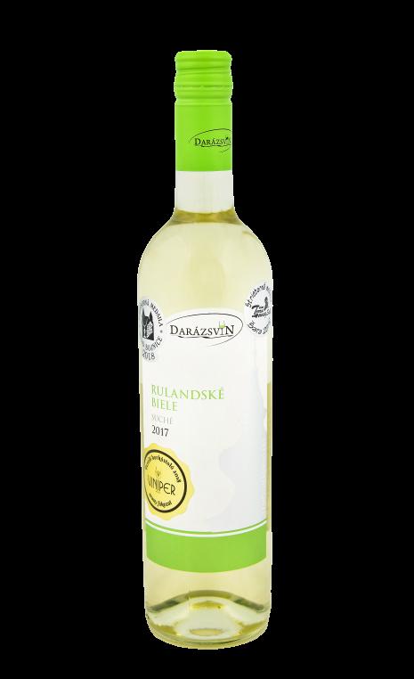 Rulandské biele suché víno 2017 vinárstvo Darázsvin