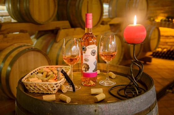 Ružové víno Imeón rosé pivnica